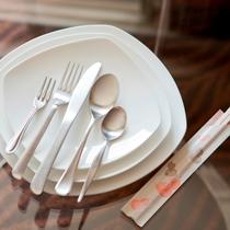 『貸出品』大小お皿 / フォーク / スプーン / ナイフ / 割りばし