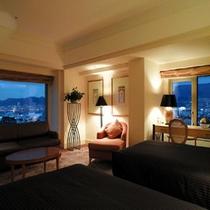 【クラブコーナーツイン】52平米・17-19階・神戸市街と六甲山系の両方の夜景が楽しめるお