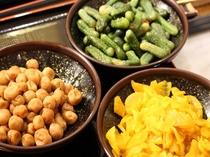 朝食(漬物)
