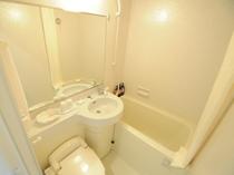 【バス・トイレ】清潔感のあるユニットバス