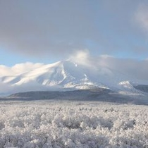 冬 屋上パノラマテラスから望む360度パノラマの白銀の世界