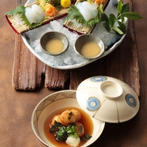 日本料理『やまぼうし』の季節の和会席料理一例