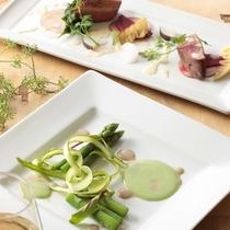 創作フレンチレストラン『ラ・ベリエール』の四季折々の鮮やかな料理の数々