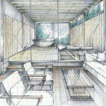 【お部屋一例】露天風呂付きプレミアムルームは源泉掛け流しの美肌の湯をお部屋併設の露天風呂で楽しめます