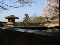 桜の本館露天風呂