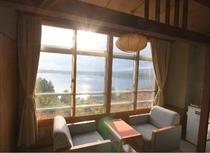 客室から眺める加茂湖