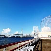 天保山大観覧車と大阪港