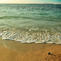 海までは裸足で30秒