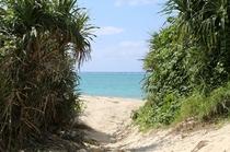 長浜ビーチ入り口