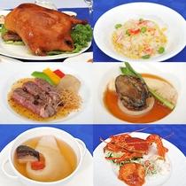 *夕食一例(料理)/本格的な広東料理をフルコーススタイルでご提供しております!
