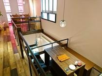 レストラン CRUSERO ロフト席で半個室空間
