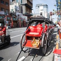 *【浅草観光】人力車で浅草下町観光♪浅草寺周辺をぐるっと!もちろんプチガイド付き♪