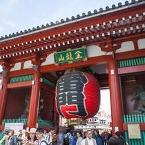 *【浅草観光】観光スポット雷門(風神雷神門)!浅草のシンボルです♪