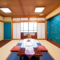 【籠島】も、畳を新しくしてシックな色合いのお部屋になりました♪