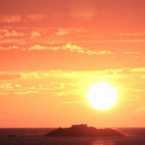燃えるような夕日は、いつ見ても感動モノ!