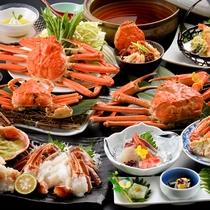 ≪越前蟹特選コース≫蟹づくし!身のしまった美味しい蟹が、鮮度バツグンです♪
