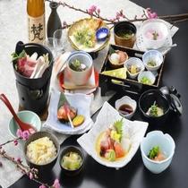 【《春》紫御膳】旬の食材を厳選し、心を込めてお届けする和食膳。ゆらりの定番!