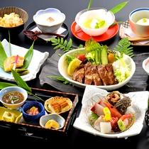 【国府御膳】新鮮なお造りからやわらかいお肉まで、旬の食材を厳選。たっぷりとご堪能頂ける和食膳