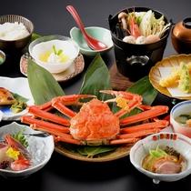 ≪蟹付会席コース≫スタンダード「菊御膳」のお料理に蟹1杯(越前産)付き!