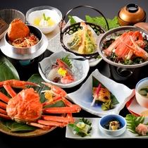 ≪越前蟹堪能コース≫あつあつ茹で立てズワイ蟹や、蟹ステーキ、名物のせいこ蟹釜飯など・・・