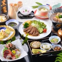 *【《夏》国府御膳】新鮮なお造りからやわらかいお肉まで、旬の食材を厳選。