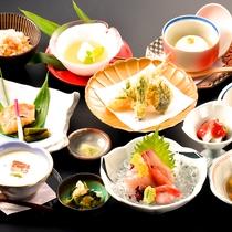 【ミニ会席】新鮮なお造りや、天ぷらなど。旬の食材をお楽しみください