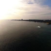 【宿の前の海】目の前に海が広がる絶景・・・☆