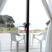【洋室ツイン】窓を開けると海☆開放感のあるテラス付き!!