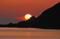 男鹿半島で見た夕日!