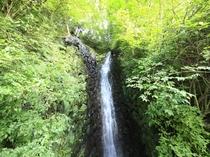 白鷺の滝 *風神の湯の露天風呂から一部が見えます