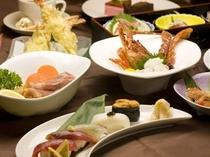 半露天風呂付☆離れ宿プラン 創作フルコース料理一例 ※季節により食材が異なります