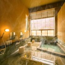 *【本館】強羅源泉100%の温泉浴場(男湯)