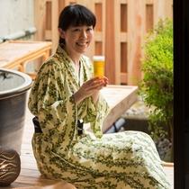 露天風呂付客室・ビール1