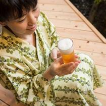 露天風呂付客室・ビール2