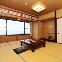 和室10畳の和室「日の出」
