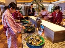 バイキングレストラン「さくら」千産千消コーナー