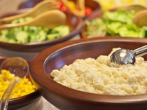 道産野菜を使用したサラダ