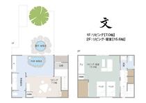 間取り【文】内湯・露天風呂付き離れの一軒家(メゾネット・和室)