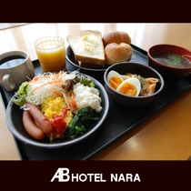 無料朝食バイキング(盛り付け例:洋食)