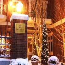 雪の日のルグラン軽井沢