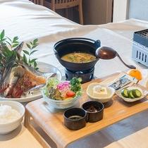 *【お料理】朝食:干物はお好きなだけどうぞ^^
