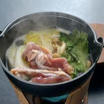 *夕食一例/体の中からじんわりあたたまる、会津地鶏なべ。