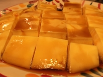 朝食バイキング 手造り北海道産牛乳と鶏卵のプリン