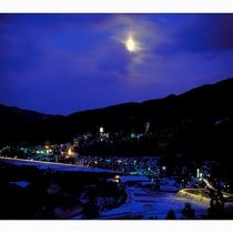 鳴子温泉周辺 冬の夜景