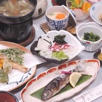 *【夕食一例】自然の恵みを存分にお召し上がり下さい