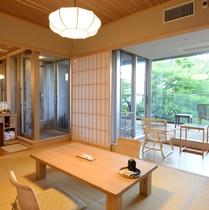 和室10畳広縁付+自然園眺望デッキ