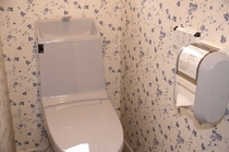 パブリックトイレ。ウォシュレットと、自動洗浄を装備です。