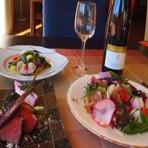 プレミアムコースは前菜からメイン(肉/魚)までお楽しみ頂けます。