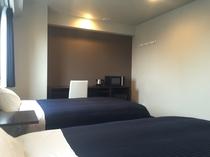 ツインルーム☆ベッド幅120×200cm♪