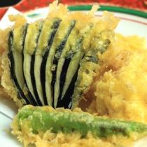 【ご夕食・季節野菜の天ぷら】